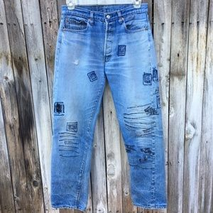 Levi's Vintage 501 Button Fly Embroidred Jeans 32